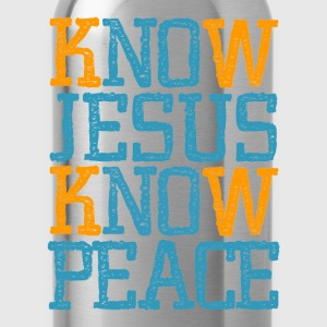 Jesus Know Peace, cool christian shirts - Water Bottle