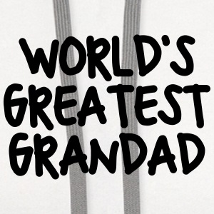worlds greatest grandad t-shirt - Contrast Hoodie