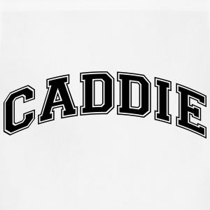 caddie college style curved logo t-shirt - Adjustable Apron