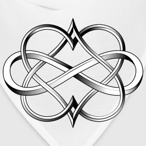Double Heart Infinity Tattoo - Bandana