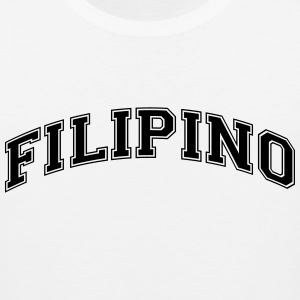 filipino  college style curved logo t-shirt - Men's Premium Tank
