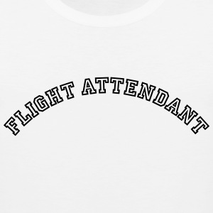 flight attendant curved college style lo t-shirt - Men's Premium Tank