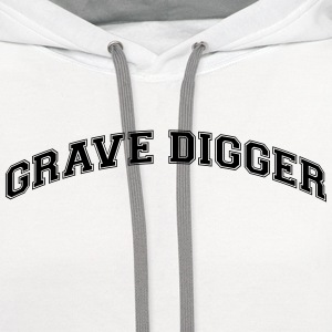 grave digger college style curved logo t-shirt - Contrast Hoodie