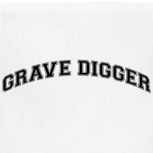 grave digger college style curved logo t-shirt - Adjustable Apron