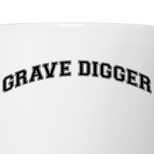 grave digger college style curved logo t-shirt - Coffee/Tea Mug