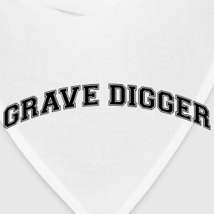 grave digger college style curved logo t-shirt - Bandana