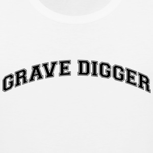 grave digger college style curved logo t-shirt - Men's Premium Tank