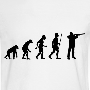 Evolution of Shooting - Men's Long Sleeve T-Shirt