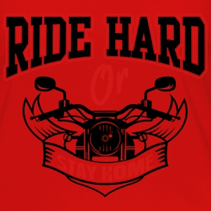 Bike: Ride hard or stay home Tanks - Women's Premium Long Sleeve T-Shirt