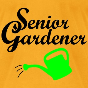 Senior Gardener with Watering Can Bags & backpacks - Men's T-Shirt by American Apparel