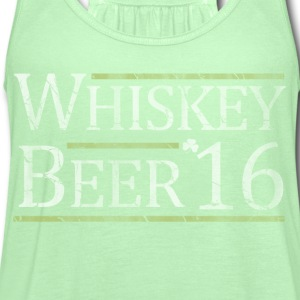 Vote Whiskey Beer 2016 Election Women's T-Shirts - Women's Flowy Tank Top by Bella