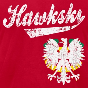 Hawkski Chicago Polish Hoodies - Men's T-Shirt by American Apparel