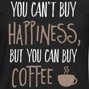 Cant buy happiness, but coffee T-Shirts - Men's Premium Long Sleeve T-Shirt