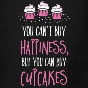 Cant buy happiness, but cupcakes Bags & backpacks - Men's T-Shirt