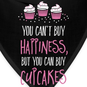 Cant buy happiness, but cupcakes Women's T-Shirts - Bandana