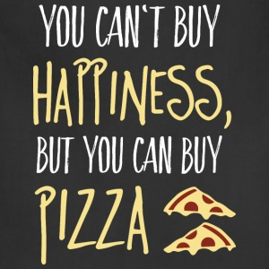 Cant buy happiness, but pizza T-Shirts - Adjustable Apron