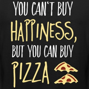 Cant buy happiness, but pizza T-Shirts - Men's Premium Tank