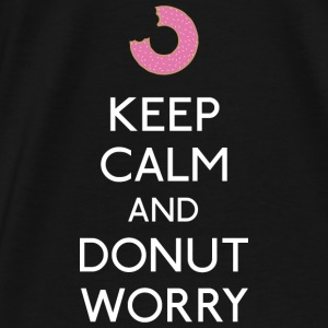 Keep Calm Donut worry Bags & backpacks - Men's Premium T-Shirt