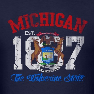 Michigan Wolverine State Hoodies - Men's T-Shirt