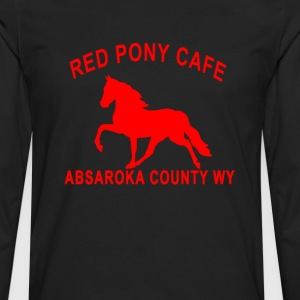 red_pony_cafe - Men's Premium Long Sleeve T-Shirt