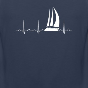 Sailing Heartbeat - Men's Premium Tank