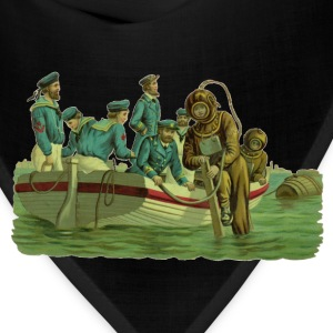 Vintage Military Deep Sea Divers with Boat - Bandana
