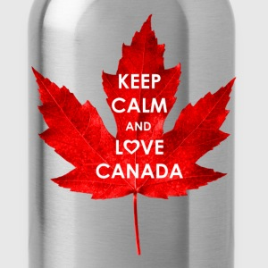 KEEP CALM AND LOVE CANADA - Water Bottle