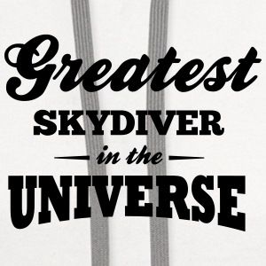 greatest skydiver in the universe t-shirt - Contrast Hoodie