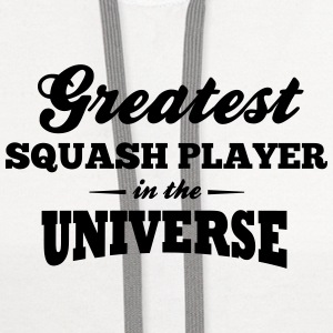 greatest squash player in the universe t-shirt - Contrast Hoodie