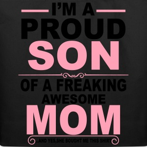 Proud Son Of Awesome Mom  T-Shirts - Eco-Friendly Cotton Tote