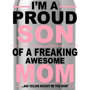 Proud Son Of Awesome Mom  T-Shirts - Water Bottle