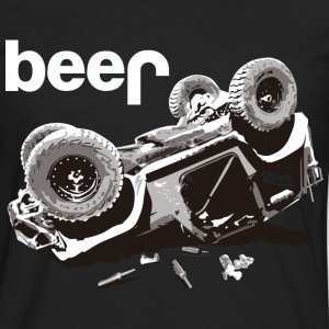 beer jeep Offroad Jeep Bear - Men's Premium Long Sleeve T-Shirt