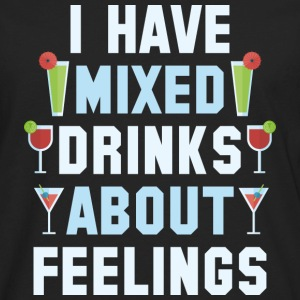 Mixed Drinks About Feelings - Men's Premium Long Sleeve T-Shirt