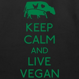 Keep Calm live vegan Baby & Toddler Shirts - Eco-Friendly Cotton Tote