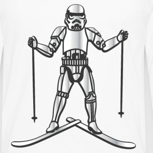 Skiing Stormtrooper - Men's Premium Long Sleeve T-Shirt