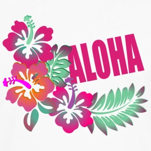 ALOHA FLOWER Hoodies - Men's Premium Long Sleeve T-Shirt