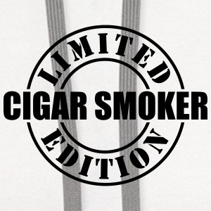 limited edition cigar smoker t-shirt - Contrast Hoodie