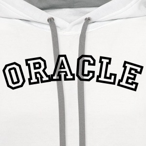 oracle curved college style logo t-shirt - Contrast Hoodie