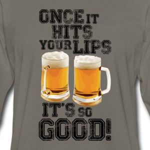 Once it hits your lips, it's so good! (OLD SCHOOL) - Men's Premium Long Sleeve T-Shirt