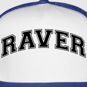 raver college style curved logo t-shirt - Trucker Cap