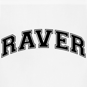 raver college style curved logo t-shirt - Adjustable Apron