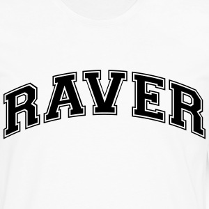 raver college style curved logo t-shirt - Men's Premium Long Sleeve T-Shirt