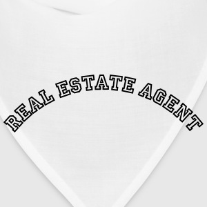 real estate agent curved college style l t-shirt - Bandana