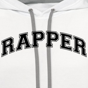 rapper college style curved logo t-shirt - Contrast Hoodie