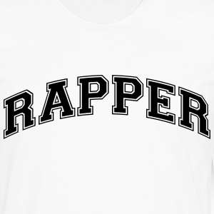 rapper college style curved logo t-shirt - Men's Premium Long Sleeve T-Shirt