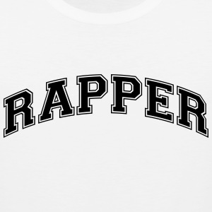rapper college style curved logo t-shirt - Men's Premium Tank