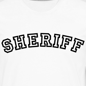 sheriff curved college style logo t-shirt - Men's Premium Long Sleeve T-Shirt