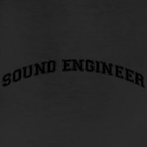 sound engineer college style curved logo t-shirt - Leggings