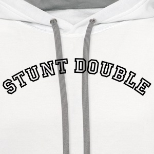 stunt double curved college style logo t-shirt - Contrast Hoodie