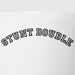 stunt double curved college style logo t-shirt - Coffee/Tea Mug